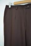 Кафяв дамски панталон с прав силует