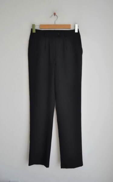 Черен дамски панталон с прав силует