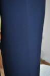 Черен дамски панталон с прав силует (второ качество)
