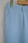 Светлосин дамски панталон с прав силует (второ качество)