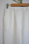 Дамски панталон в екрю с прав силует (второ качество)