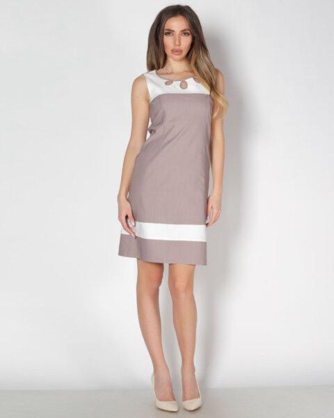 Дамска рокля с ефектно деколте