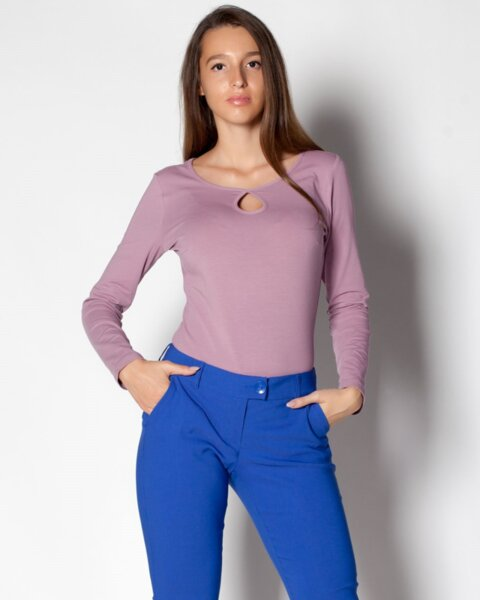 Mesta - дамска basic блуза с дълъг ръкав (второ качество)