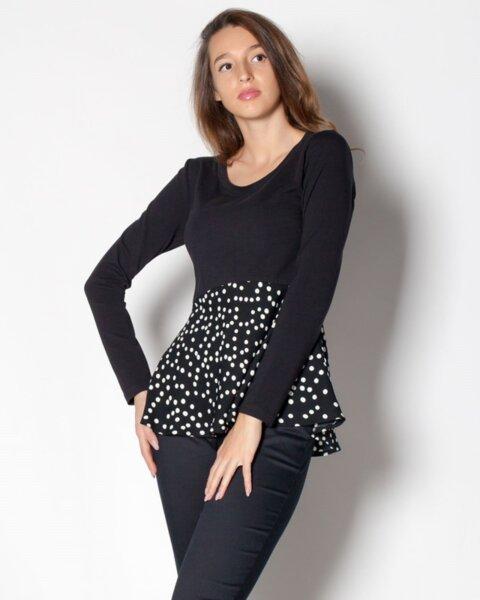 Adela - нежна памучна блуза с дълъг ръкав (второ качество)