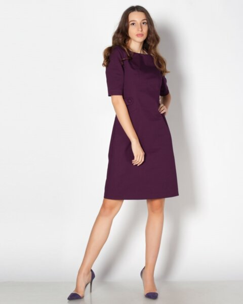 Vselena - стилна дамска рокля тип трапец (второ качество)