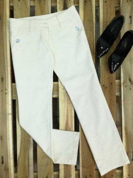 Панталон в цвят екрю