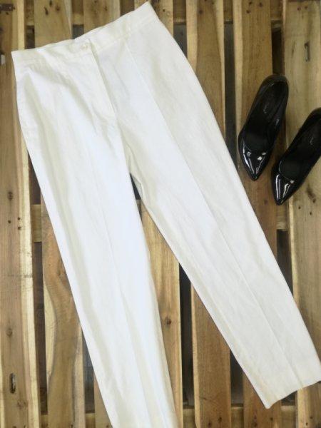 Бял панталон с ръб