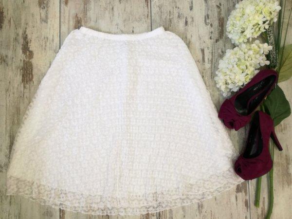 Бяла дантелена дамска пола - Soft