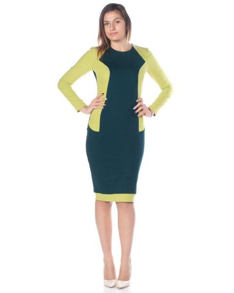 Вталена дамска рокля от плътно трико - Nala  v41