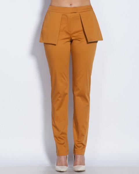 Дамски панталон с външни джобове в охра - Walden v69