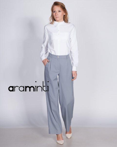 Дамски панталон с широки крачоли в сиво - Liverpool v69