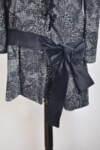 Дамско манто с велурена панделка