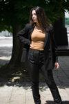 Дамско сако с лек свободен силует