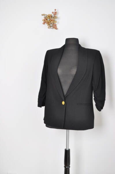 Дамско сако с набрани ръкави