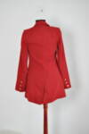 Дамско сако без закопчаване в червено