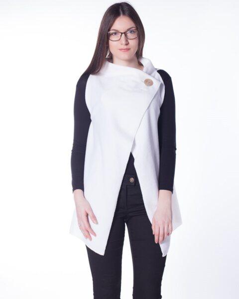 Бял дамски елек - White (второ качество)