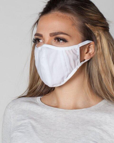 Бяла маска ProMask Flexy 5 с 5 сменяеми филтъра със сребърни йони