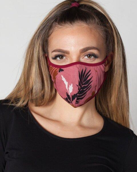 Розова антибактериална маска с 5 броя сменяеми филтри със сребърни йони ProMask Flexy 5