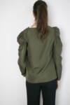 Тъмнозелена дамска блуза със свободен силует