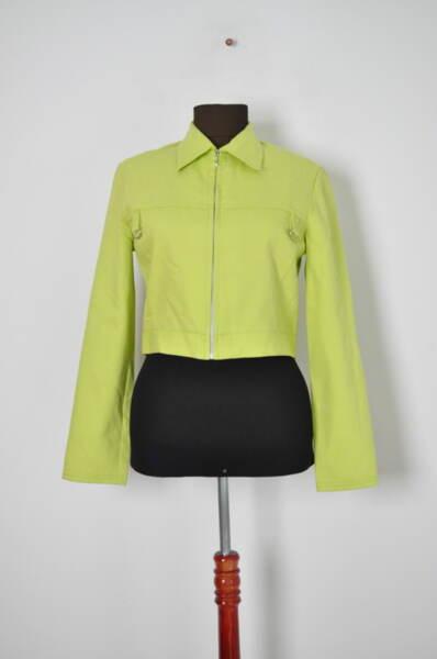 Късо дамско сако с цип
