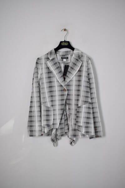 Дамско сако с А-симетрична долна част