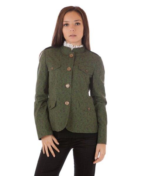 Дамско сако с щампа цветя