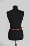 Дамски колан с катарама в керемидено червено