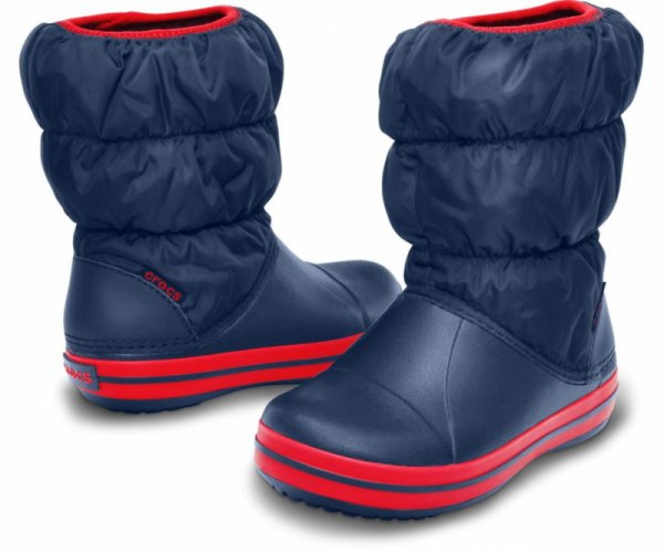 Crocs Puff Boot K Navy/Red