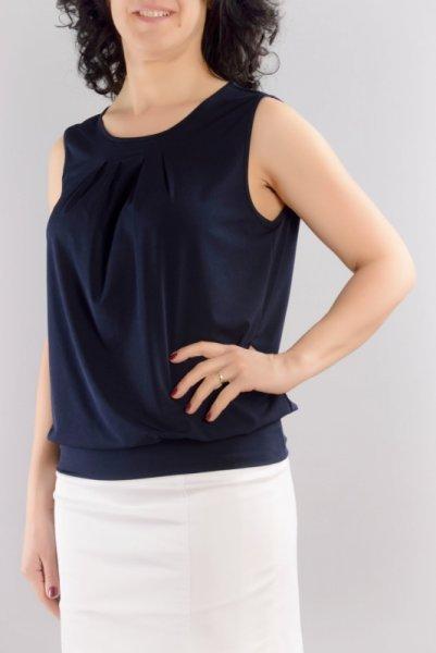 Трикотажна блуза със свободен силует