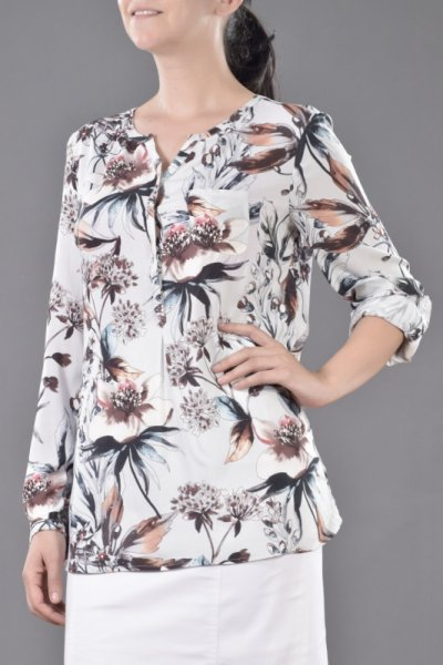 Свободна блуза-туника от щампа