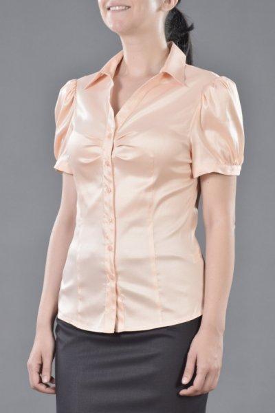 Класическа дамска риза с V-образно деколте
