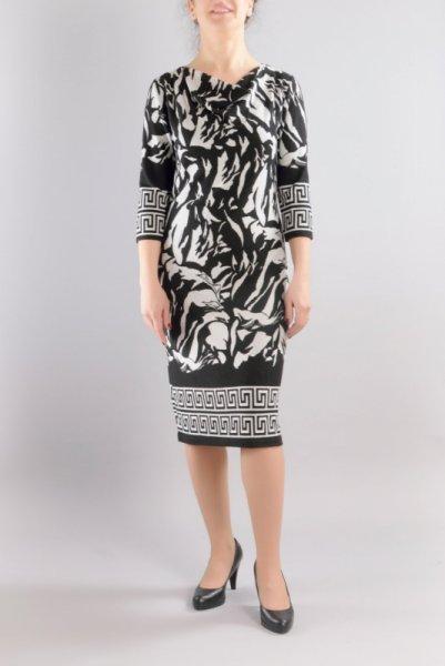 Вталена трикотажна рокля