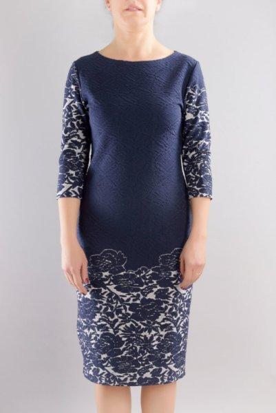Женствена рокля от трикотажен жакард