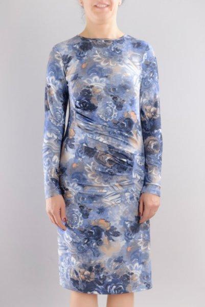 Трикотажна рокля с щампа