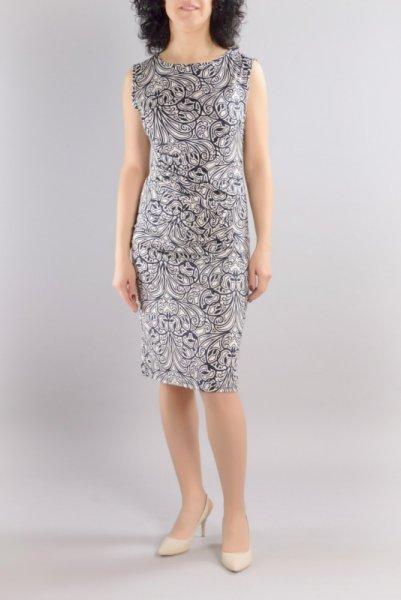 Трикотажна рокля без ръкави