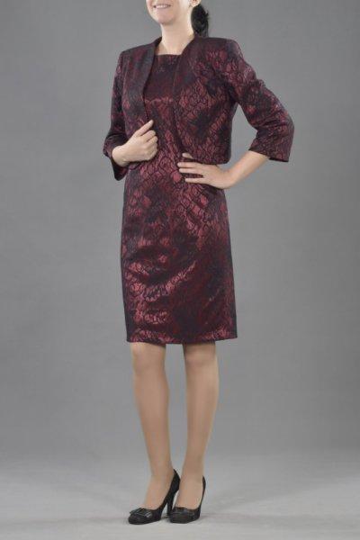 Костюм от женствено късо болеро и вталена рокля