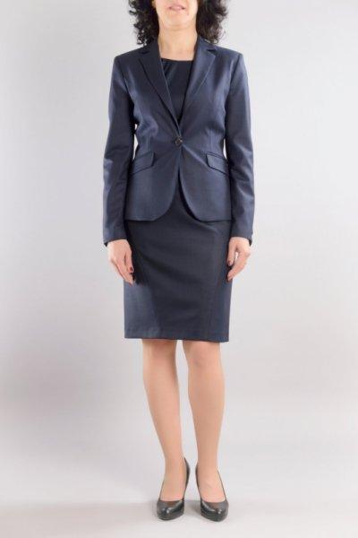 Костюм от вталено сако и женствена рокля