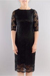 Вталена женствена рокля с къс ръкав