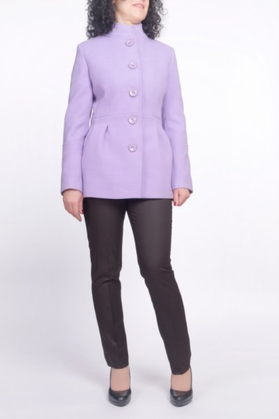 Късо дамско палто с чупки