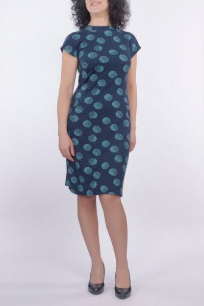 Ретро рокля с малка поло яка