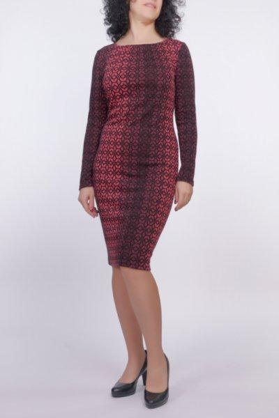 Вталена рокля с набор на деколтето