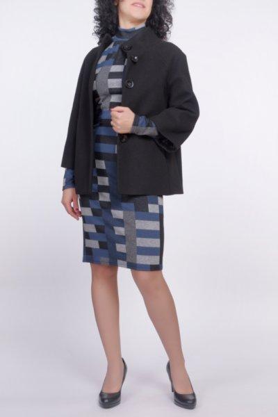 Комбинация от късо палто и Рокля с поло яка