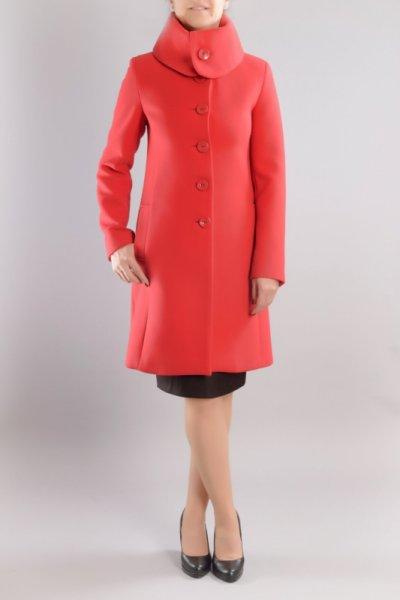 52de8734481 Вталено дамско палто с голяма яка
