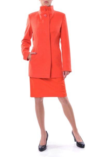 Вталено палто със скрито закопчаване