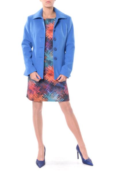 Комбинация от Късо палто и Рокля със свободен силует