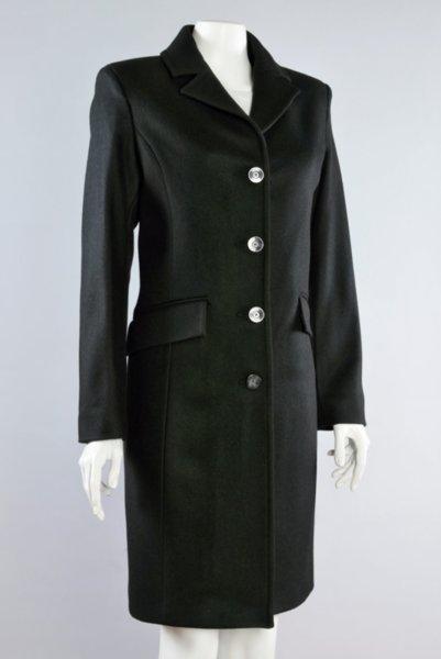 Дамско класическо вталено палто с ревери