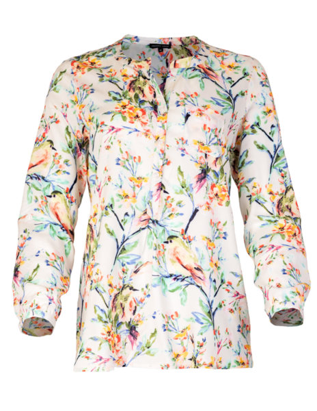 Свободна дамска блуза-туника от щампа