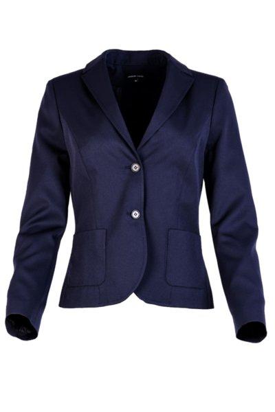 Вталено дамско сако с външни джобове