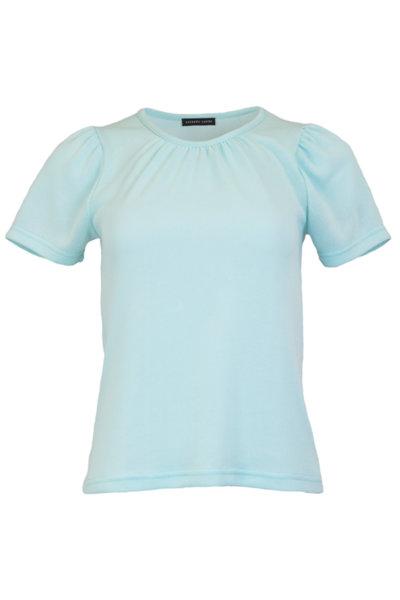 Дамска блуза от памук с къс ръкав