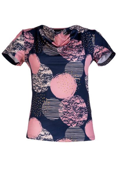 Трикотажна дамска блуза с гръцко деколте